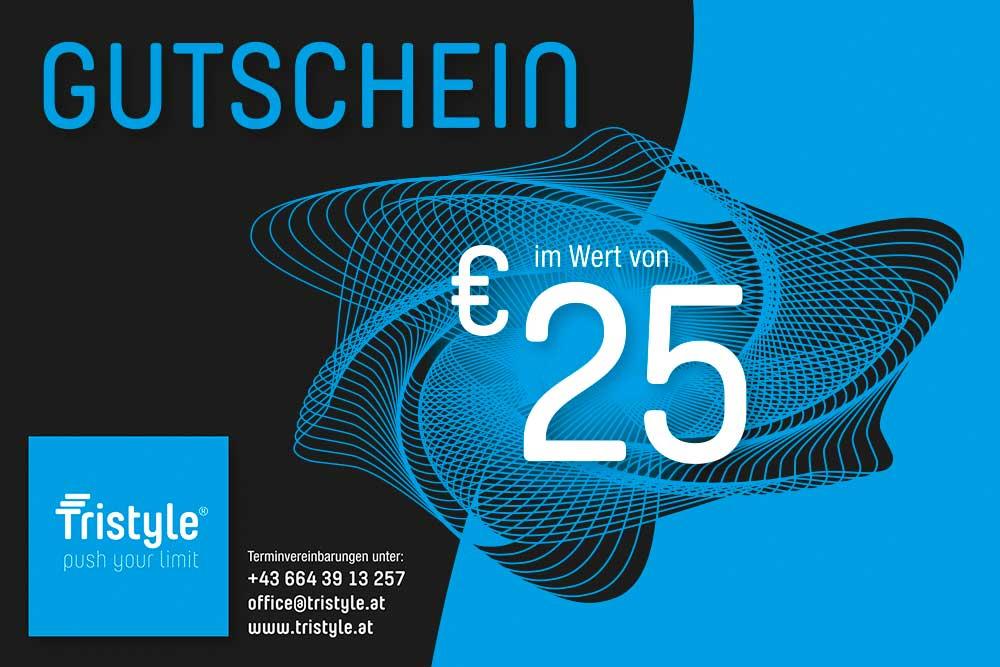 Tristyle Wertgutschein 25 Euro