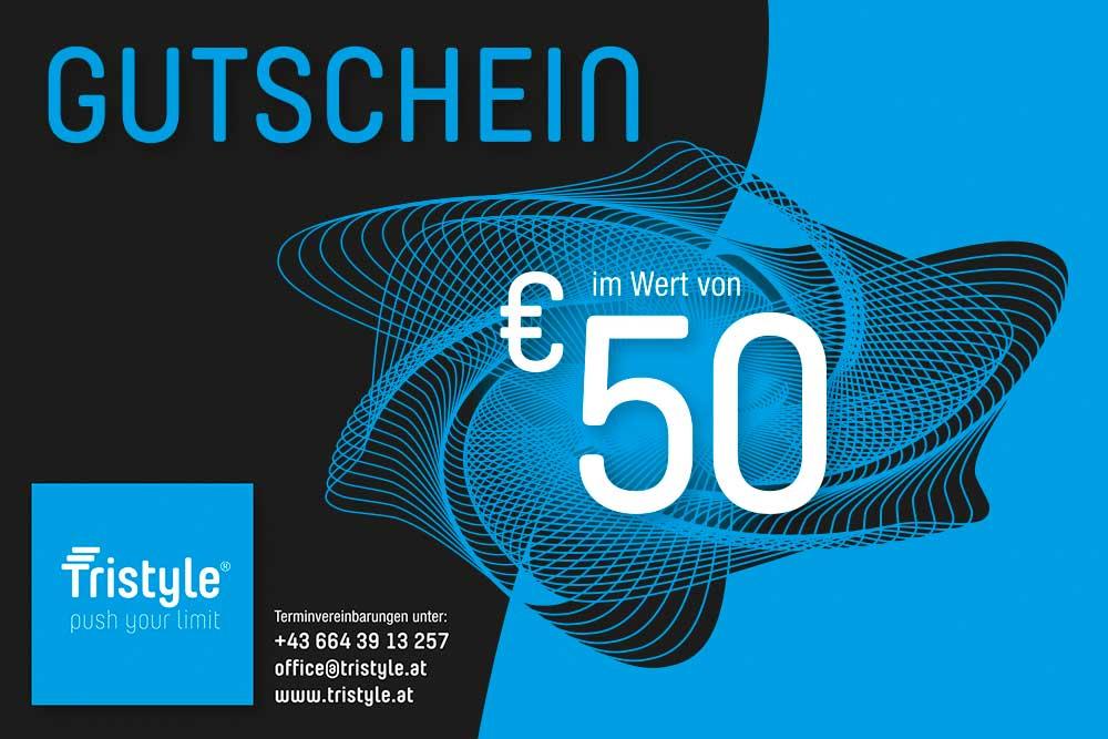 Tristyle Wertgutschein 50 Euro