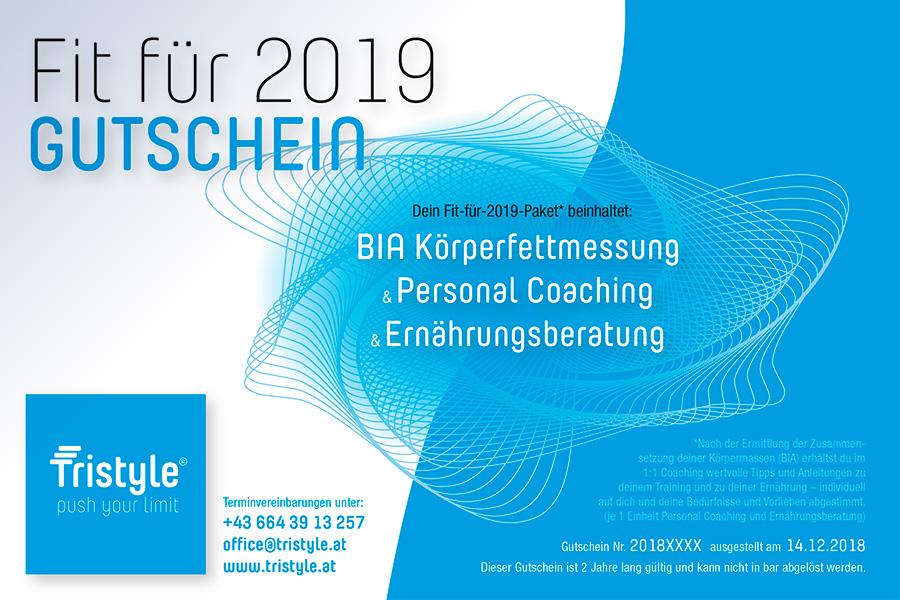 Tristyle Fit-für-2019-Gutschein
