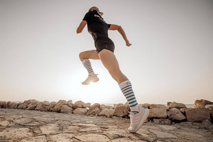 Tristyle Socken lang weiß